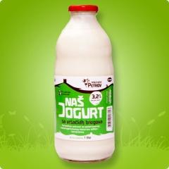 Naš jogurt 1 L (boca)